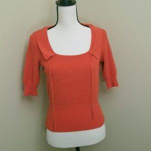 Anthropologie/Moth Sweater in Orange Medium